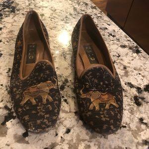Zalo elephant tapestry smoking shoes 8